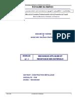 Module 7 Mecanique Appliquee Et Resistance Des Materiaux Tcm