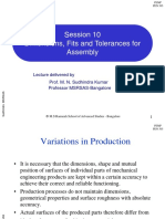10 Dimensions, Fits and Tolerances for Assembly
