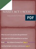 Sonnet Act 1 Scene 3