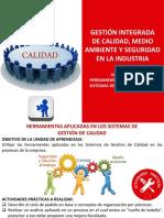 HERRAMIENTAS APLICADAS EN LOS SISTEMAS DE GESTIÓN DE CALIDAD