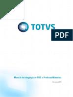 Manual de Integracao Protheus Materiais X ESUS