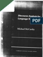 Michael McCarthy - Discourse Analysis for Language Teachers