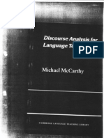 Michael McCarthy - Discourse Analysis for Language Teachers