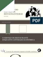 Execução Do Serviço de Restaurante