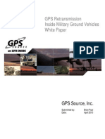 GPS Re Transmission Inside Military Ground Vehicles White Paper