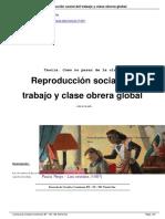Bhattacharya Reproducci n Social Del Trabajo y Clase Obrera Global