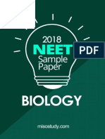 NEET 2018 Biology Sample Question Paper