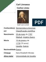 Carolus Linnaeus – Wikipédia, A Enciclopédia Livre