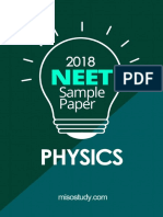 NEET 2018 Physics Sample Question Paper