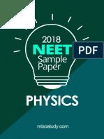 NEET 2018 Physics Sample Question Paper