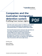 P292 Australian Offshore Detention Briefing Note - TAI November 2016