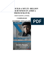 How to Build a Multi-billion Dollar Business in Africa From Scratch - By Dr. Strive Masiyiwa