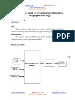 Touch Panel Based Modern Restaurants Atomization Using Zigbee Technology