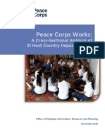 Peace Corps Works Cross-Sectional Analysis of 21 Host Country Impact Studies 2016