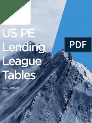 PitchBook 2017 Annual US PE Lending League Tables | Ubs | Banks