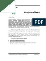 Handout Manajemen Waktu