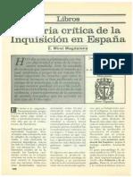 Historia Critica de La Inquisicion en Espana