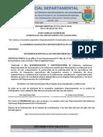Gaceta Oficial de Cochabamba Nº 19