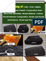 Processing of Coke, Coal, Lignin, Lignocellulosic-Plastic Composites from Recycled Materials,
