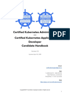 CKA CKAD Candidate Handbook v1 9 2018 April 16 | Identity Document