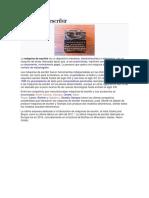 Máquina de Escribir Practica 17