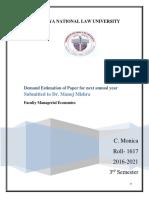 Managerial Economics Final Draft