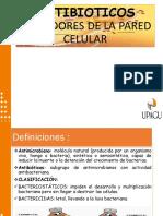 ANTIBIOTICOS INHIBIDORES DE LA PARED CELULAR