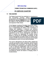 Nipc Service Charter