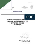 8. Reparto Modal Óptimo Del Transporte Terrestre de Carga en México 1ª. Etapa