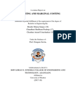 A Seminar Report On job and marginal costing