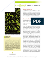 The Price Guide to the Occult Discussion Guide
