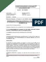 Interpretación Auténtica de los Artículos 5 y 13 de la Ley N° 6836, Ley de Incentivos a los Profesionales en Ciencias Médicas
