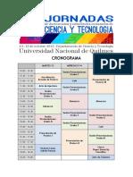Programa Completo - 2° Jornadas de doctorandos y estudiantes avanzados de Ciencia y Tecnología