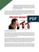 Bagaimana Cara Menyembuhkan Sakit Bronkitis