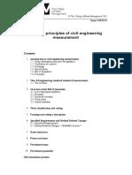 General Principles of Civil Engineering Measurement