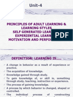 Unit-4 Principles of Adult Learning 16.8.16