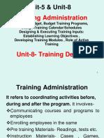 Unit-5 & 8 Training Administration