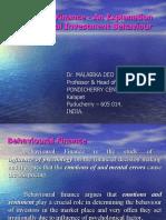 Behavioral Finance - An Explanation