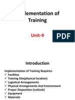 Unit-9 T & D Implementation of Training
