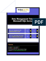 Data Management Using Microsoft SQL Server - CPINTL