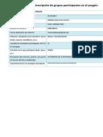 Formato de Inscripción de Grupos Participantes en El Pregón