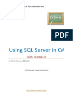 Using SQL Server in CSharp