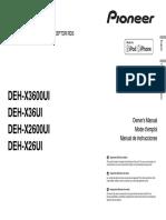 DEH X2600UI OwnersManual072616