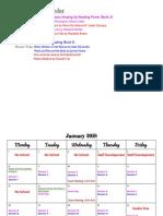 Copy of 3rd Nine Weeks Calendar