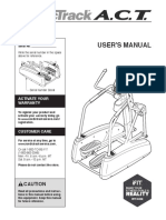 ACT NordicTrack Owners Manual