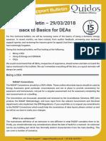 Quidos Technical Bulletin - 29/03/2018