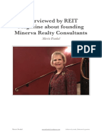 Merrie Frankel - Interviewed by REIT Magazine about founding Minerva Realty Consultants