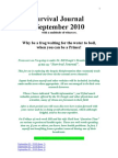 Survival Journal for September 2010