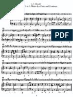 3 Flute Sonatas, No 1 in A