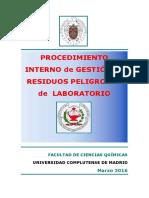 Procedimiento Gestión Residuos LaboratorioMarzo_16
